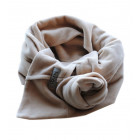 KNOT double layered velour scarf sand