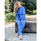 Female stylish leisure pants BUBOO active, bluish