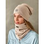 Woman fall winter beanie hat - Latte