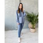 Female stylish leisure pants WOW, blue - indigo