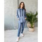 Female stylish leisure jumper WOW, blue - indigo