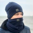 Men's scarf - comfortable, cozy, perfect - Dark blue