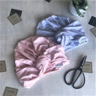 Summer thin beanie turban KNOT - Blush powder