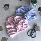 Summer thin beanie turban KNOT - Mist