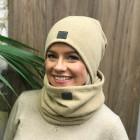 Woman fall winter beanie hat - light brown, Camel