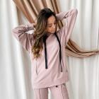 Woman stylish leisure jumper WOW, ash rose