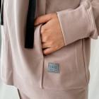 Woman stylish leisure jumper BUBOO active MAMA, ash rose