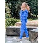 Woman stylish leisure jumper BUBOO active, bluish