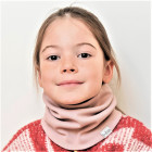 Kids snood scarf for spring, fall - Ash rose