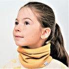 Kids snood scarf for spring, fall - Mustard