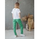 Female stylish pants with belt TAHO, green
