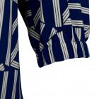 Impressive patterned female dress with strap BARCELONA blue/white