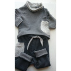 warm POCKET pants grey with wool pocket