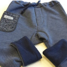 Warm POCKET pants blueberry with wool pocket