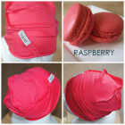 Kids thin stretchy cotton beanie UPSIDEDOWN - raspberry