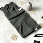 Kids snood scarf for spring, fall - Dark grey, Stump