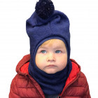 Stylish fall winter alpaca wool kids HELMET Corn Flower