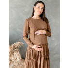 Woman dress with long sleeves WOW, brown leopard