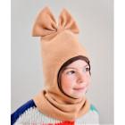 Kids fall winter mohera wool helmet FASHIONISTA sand