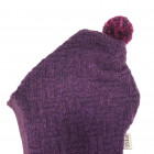 Stylish fall winter wool kids HELMET Eggplant Chess