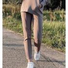 Female stylish leisure pants BUBOO active, sand
