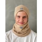 Man fall beanie hat - light brown, Camel