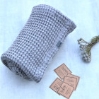 Sustainable softened linen plaid/towel 2 in 1 Grey