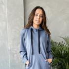 Woman leisure dress BUBOO active, blue - indigo