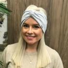 Stylish woman headband KNOT, mist