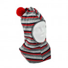 Stylish fall winter wool kids HELMET cherry