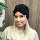 Summer thin beanie turban KNOT - Black