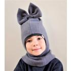 Stylish fall winter mohera wool kids helmet FASHIONISTA grey