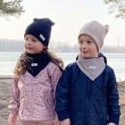 Kids doublelayered beanie BEAR dark blue