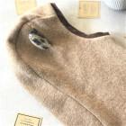Stylish fall winter egyptian wool kids HELMET with leopard ears SAND