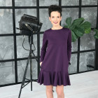 Female luxurious dress ROMA Ultraviolet