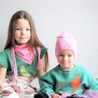 Kids thin stretchy cotton beanie UPSIDEDOWN - cyclamen