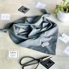 Kids spring summer scarf UPSIDEDOWN grey dandelion (modal/cotton)
