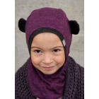 Kids spring/fall helmet BEAR eggplant
