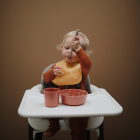 Mushie Silicone Baby Bib - Warm Taupe