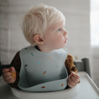 Mushie Silicone Baby Bib - Brown Safari
