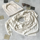 Kids spring summer scarf TRENDY milk foam