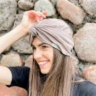 Summer thin beanie turban KNOT - Cocoa