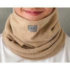 Stylish man snood scarf for spring fall or winter - light brown, Camel