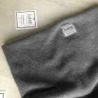 Stylish man snood scarf for spring fall or winter - Dark grey