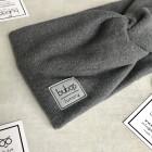 Stylish woman headband for spring autumn or winter, Dark grey