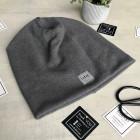 Kids beanie for fall winter spring BUBOO Luxury - Dark grey