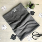Stylish woman snood scarf for spring fall or winter - Dark grey