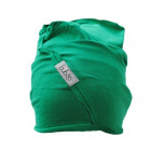 Kids thin stretchy cotton beanie UPSIDEDOWN - green pea