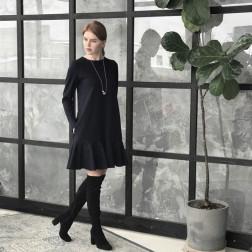 Female luxurious dress ROMA Black