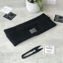 Kids headband BUBOO luxury for fall, winter, spring SIMPLE, Black